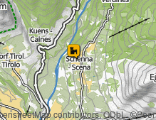Map: Schloss Schenna / Castello di Scena