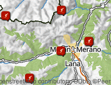 Map: Skiing areas