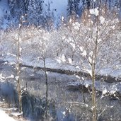 Ulten Winter Fluss
