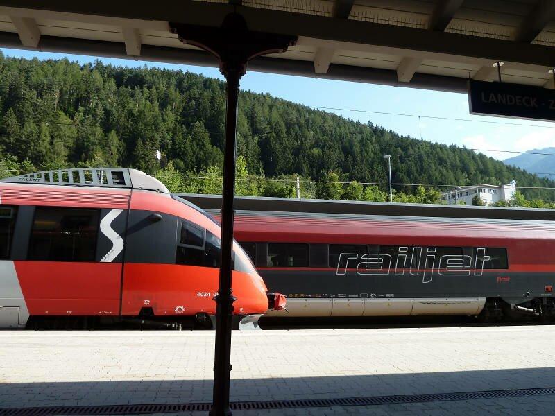 Bus And Train Merano And Surroundings Italy