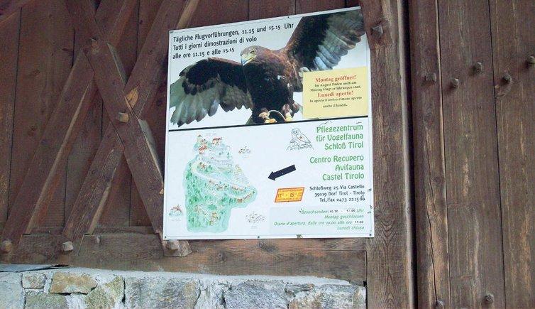 Pflegezentrum für Vogelfauna Schloss Tirol, Foto: AT, © Peer