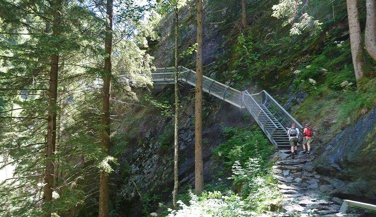 """Il sentiero """"Passerschluchtenweg"""", Foto: AT, © Peer"""